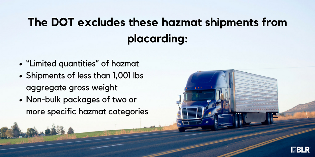 Placarding Hazmat Shipments Do You Know The Exceptions